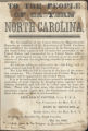 United States Recruitment Poster for the People of Eastern North Carolina, May 1, 1862