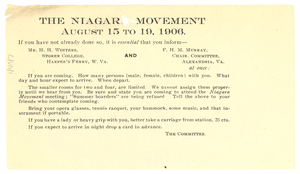 Invitation to Niagara Movement