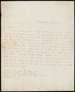 Letter from Philadelphia, [Pa.], to William Lloyd Garrison, November 3'd, 1831