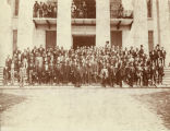 Members of the Alabama Reconstruction Legislature on the steps of the Capitol in Montgomery, Alabama.