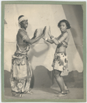 "Dancer and choreographer Asadata Dafora with Musu Esami (Frances Atkins), as the bridegroom and bride, in his dance-musical production ""Kykunkor,"" 1934"