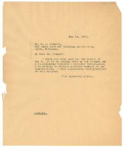 Letter from W. E. B. Du Bois to N.A.A.C.P. Omaha Branch