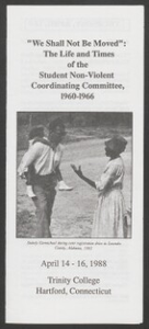 SNCC Trinity College Conference pamphlet, 1988