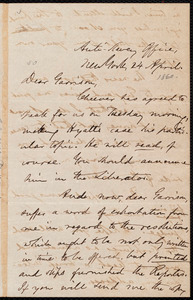 Letter from Oliver Johnson, New York, [N.Y.], to William Lloyd Garrison, 24 April [1860]