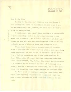 Letter from Milton Rogovin to W. E. B. Du Bois
