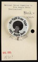 Free Angela Davis button