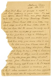 Letter from H. S. Moore, September 8, 1893 Charles B. Moore Family papers, 1832-1917