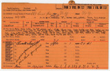 Enlistment Card for Booker T. Washington, 15th NY National Guard in 1938
