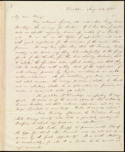 Letter from William Lloyd Garrison, Brooklyn, [Conn.], to Henry Egbert Benson, Aug. 24, 1835