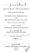 Paley's natural theology Natural theology 1840