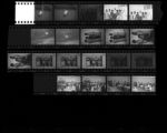 Set of negatives by Clinton Wright including Buy-a-Brick campaign and parents' night at Jo Mackey, 1965