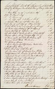 List of articles sent to the Boston Female Anti Slavery Society from Andrew Paton, [Glasgow, Scotland], to Maria Weston Chapman, 15 Nov. 1845