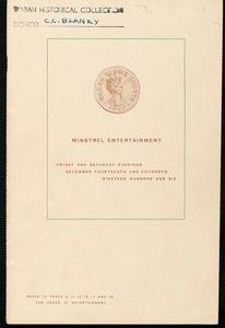 Waban Tennis Courts minstrel entertainment, 1906