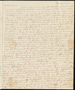 Letter from Sylvia Ann Ammidon to Deborah Weston, Saturday Night, [183-?]