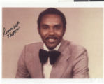 Photograph of Roosevelt Toston, signed, 1974