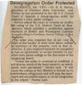 Thumbnail for Desegregation Order Protested