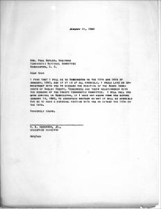 Letter from Russell B. Sugarmon Jr. to Paul Butler