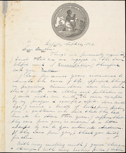 Letter from Jacob Weston, Byfield, [Massachusetts], to William Lloyd Garrison, 1839 Sept[ember] 22