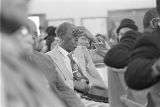Audience at Maggie Street Baptist Church in Montgomery, Alabama, probably listening to Martin Luther King, Jr., speak.