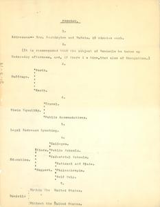 Program for Committee of Twelve meeting