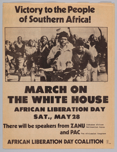 Pamphlet for the 1977 March on the White House for African Liberation