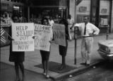 Civil rights protesters on Main Street