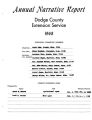 Annual Narrative Report Dodge County Extension Service 1968