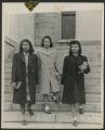 Arlene Roberts and two fellow students, University of Iowa, 1946