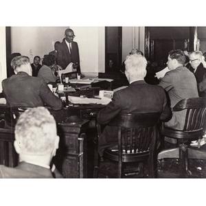 Thumbnail for Reverend Michael E. Haynes giving a presentation.