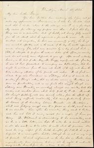 Letter from William Lloyd Garrison, Brooklyn, [Conn.], to George William Benson, March 15, 1836