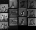 Set of negatives by Clinton Wright including Moulin Rouge Beauty Salon, Sarann's Dress Shop, Sister Andrew Jackson, copy negative for Brother Johnson, and boxing team at Doolittle, 1970