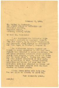 Letter from W. E. B. Du Bois to Dudley S. Mackenzie