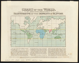 Chart of the world, on Mercator's projection illustrative of the impolicy of slavery