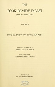 Book review digest, 1906 v.2