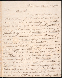 Letter from Arthur Tappan, New Haven, to Amos Augustus Phelps, Jany 17 1835