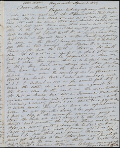 Letter from Anne Warren Weston, Weymouth, [Mass.], to Maria Weston Chapman, April 2, 1849