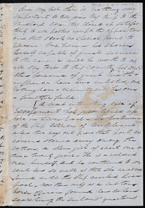 Fragment of a letter from Parker Pillsbury, [Liverpool, England?]