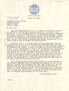 Letter from Ira H. Latimer to Frank Sweeney