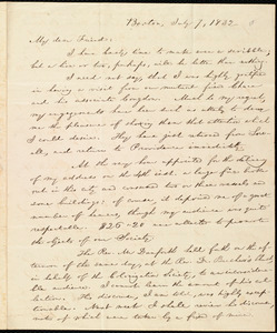 Letter from William Lloyd Garrison, Boston, [Mass.], to Henry Egbert Benson, July 7, 1832