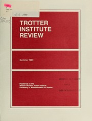 Trotter Institute Review, 3 (# 3)