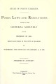 Public laws and resolutions passed by the General Assembly at its session of ...[1935] Laws, etc.; Public laws and resolutions passed by the General Assembly at its extra session of...
