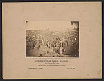 Andersonville Prison, Georgia. View from the main gate Issuing rations to thirty-three thousand prisoners /