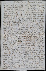 Letter from Richard Davis Webb, Dublin, [Ireland], to Maria Weston Chapman, Sunday, February 23, 1851