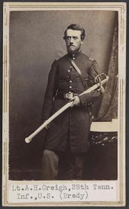 Lieut. A. H. Creigh, 28th Penn'a. Vols.