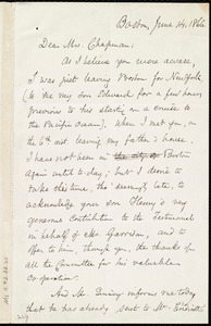 Letter from Samuel May, Boston, [Mass.], to Maria Weston Chapman, June 14, 1866
