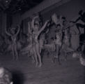 Film negatives of Boots Wade and other dancers performing the watusi in the Moulin Rouge opening show, May 24, 1955