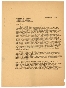 Letter from W. E. B. Du Bois to Alcuin Knecht