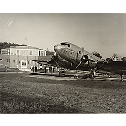 American Airlines plane at municipal airport