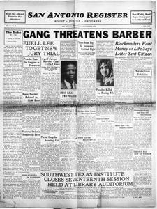 San Antonio Register (San Antonio, Tex.), Vol. 2, No. 23, Ed. 1 Friday, September 9, 1932 San Antonio Register