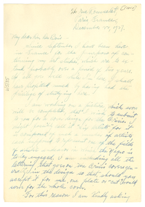 Letter from Hale Woodruff to W. E. B. Du Bois